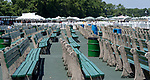 July 18, 2020: Scenes of an empty grandstand on Haskell Invitational Day at Monmouth Park Racecourse in Oceanport, New Jersey. Charles Toler/Eclipse Sportswire/CSM