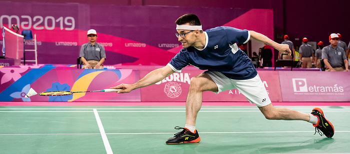 Pascal Lapointe, Lima 2019 - Para Badminton // Parabadminton.<br /> Pascal Lapointe compete in badminton // Pascal Lapointe participent au badminton. 31/08/2019.