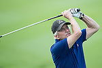 Michael Douglas plays a second shot at the World Celebrity Pro-Am 2016 Mission Hills China Golf Tournament on 21 October 2016, in Haikou, China. Photo by Victor Fraile / Power Sport Images