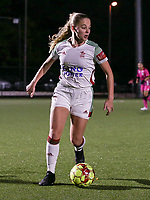 Tess Lameir (14 OHL) with the ball during a female soccer game between Oud Heverlee Leuven and Sporting de Charleroi on the seventh matchday of the 2020 - 2021 season of Belgian Womens Super League , sunday 15 th of November 2020  in Heverlee , Belgium . PHOTO SPORTPIX.BE | SPP | SEVIL OKTEM