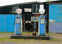 Old garage, petrol station.