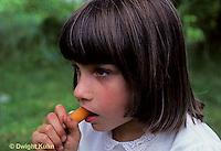 FA11-004z  Taste - girl eating carrot, healthy snack