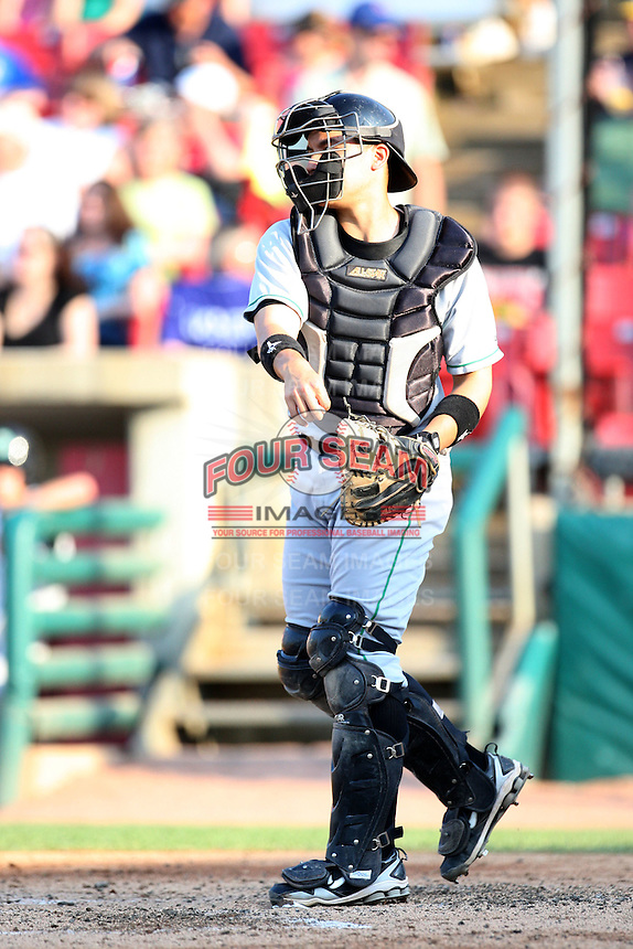 May 29, 2010: Steven Baron (9) of the Clinton LumberKings at Elfstrom Stadium in Geneva, IL. The LumberKings are the Midwest League Class A affiliate of the Seattle Mariners. Photo by: Chris Proctor/Four Seam Images