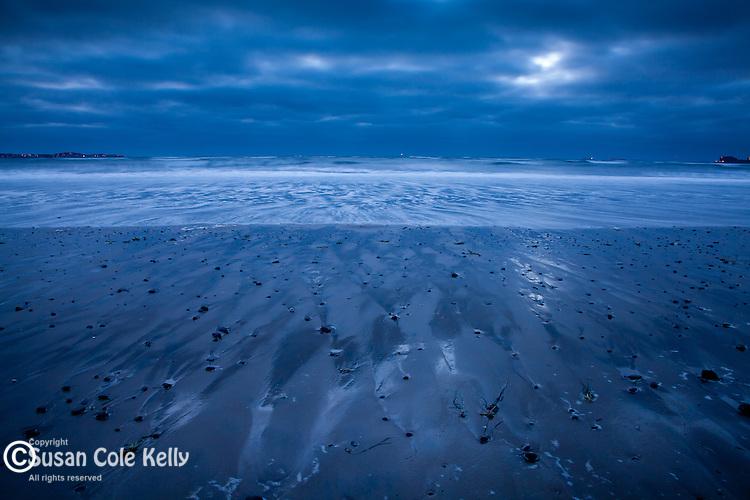 A blue sunrise at Revere Beach, Revere, MA, USA