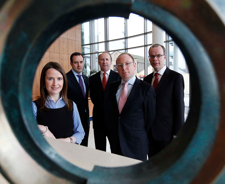 .Leading Irish law  firm McCann FitzGerald continues to invest in its business with the appointment of four new partners. They are (l-r) Annette Orange, IT & e-commerce Group, Aidan Lawlor, Corporate Finance  Group, John Cronin, Chairman, Darragh Murphy, Banking & Financial Services Group and Brian Quigley, Dispute Resolution  & Litigation Group. Pic Robbie Reynolds / CPR