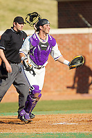 Josh Spano (21) of the High Point Panthers on defense against the Bowling Green Falcons at Willard Stadium on March 9, 2014 in High Point, North Carolina.  The Falcons defeated the Panthers 7-4.  (Brian Westerholt/Four Seam Images)
