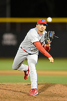 Clearwater Threshers pitcher Ryan O'Sullivan #24 during a game against the Dunedin Blue Jays at Florida Auto Exchange Stadium on April 4, 2013 in Dunedin, Florida.  Dunedin defeated Clearwater 4-2.  (Mike Janes/Four Seam Images)