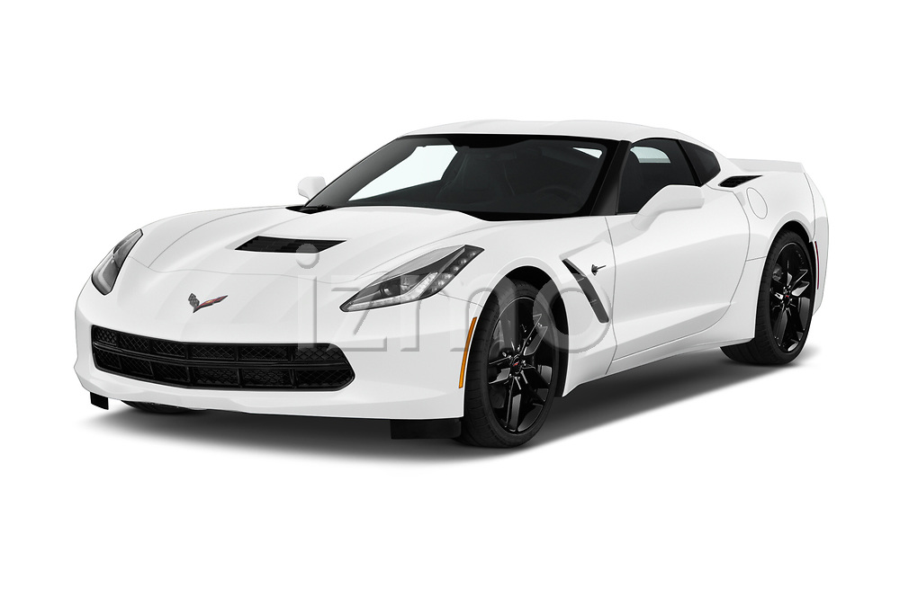 2018 Chevrolet Corvette Stingray 1LT 2 Door Coupe angular front stock photos of front three quarter view