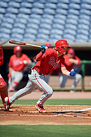 Philadelphia Phillies Bryson Stott (10) at bat during an Instructional League intrasquad game on September 28, 2019 at Spectrum Field in Clearwater, Florida.  (Mike Janes/Four Seam Images)