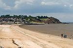 Leysdown beach looking towards Warden.  Isle of Sheppey Kent UK.