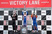 #12: Will Power, Team Penske Chevrolet, #10: Alex Palou, Chip Ganassi Racing Honda, #9: Scott Dixon, Chip Ganassi Racing Honda, #9: Scott Dixon, Chip Ganassi Racing Honda, podium