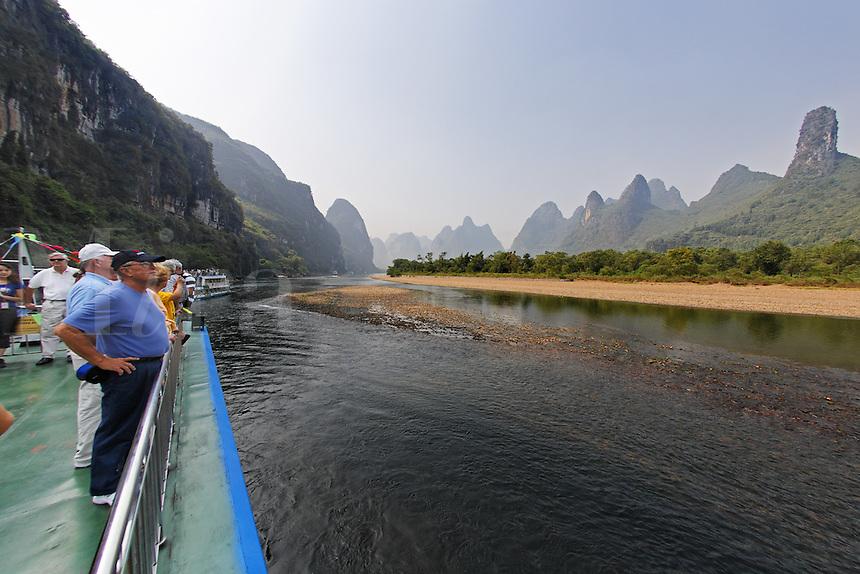 Cruising the Lijiang River, Guanxi, China