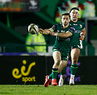 20th February 2021; Galway Sportsgrounds, Galway, Connacht, Ireland; Guinness Pro 14 Rugby, Connacht versus Cardiff Blues; Caolin Blade plays the ball out for Connacht