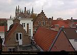 Medieval Skyline, Town Hall Stadhuis and Burg Square Towers, Bruges, Brugge, Belgium