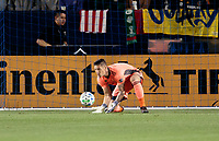 CARSON, CA - MARCH 07: GKDavid Bingham #1  of the Los Angeles Galaxy during a game between Vancouver Whitecaps and Los Angeles Galaxy at Dignity Health Sports Park on March 07, 2020 in Carson, California.
