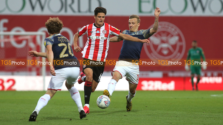 Christian Norgaard of Brentford races upfield during Brentford vs Barnsley, Sky Bet EFL Championship Football at Griffin Park on 22nd July 2020