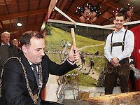 NO FEE PICTURES 25/1/13 Lord Mayor of Dublin Naoise ?ì Muir?? at the Holiday World Show at the RDS, Dublin. Picture:Arthur Carron/Collins