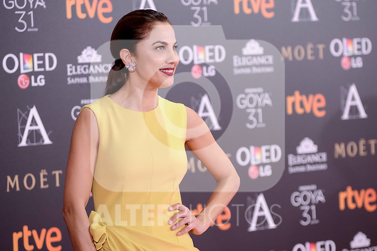 Toni Acosta attends to the Red Carpet of the Goya Awards 2017 at Madrid Marriott Auditorium Hotel in Madrid, Spain. February 04, 2017. (ALTERPHOTOS/BorjaB.Hojas)