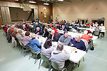 March 31, 2017- Tuscola, IL- A nearly full dining room during the annual Kiwanis Fish Fry at Forty Martyrs. [Photo: Douglas Cottle]