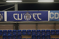 CUFC banner during Colchester United vs Exeter City, Sky Bet EFL League 2 Football at the JobServe Community Stadium on 23rd February 2021