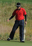 3 October 2008: Kevin Na gives a fist pump after sinking a birdie putt during the second round at the Turning Stone Golf Championship in Verona, New York.