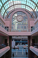 San Francisco:  The Galleria, Interior, looking to Sutter St. (Note Hallidie Building--across street.)