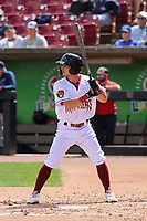Wisconsin Timber Rattlers outfielder Sal Frelick (17) at bat during a game against the Cedar Rapids Kernels on September 8, 2021 at Neuroscience Group Field at Fox Cities Stadium in Grand Chute, Wisconsin.  (Brad Krause/Four Seam Images)