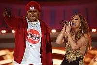 NEW YORK, NY - SEPTEMBER 26, 2021 Jennifer Lopez LL Cool J. perform on stage during Global Citizen Live, in Central Park on September 26, 2021 in New York City. Photo Credit: Walik Goshorn/Mediapunch