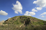 Israel,Tel Lachish, site of the biblical city Lachish, the Assyrian siege ramp at the southern side of the tel