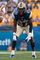 Pitt defensive back Bricen Garner. The Pitt Panthers football team defeated the Albany Great Danes 33-7 on September 01, 2018 at Heinz Field, Pittsburgh, Pennsylvania.