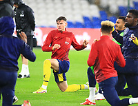 28th September 2021; Cardiff City Stadium, Cardiff, Wales;  EFL Championship football, Cardiff versus West Bromwich Albion; Taylor Gardner-Hickman of West Bromwich Albion stretches during warm up