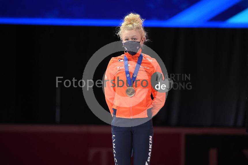 SPEEDSKATING: DORDRECHT: 06-03-2021, ISU World Short Track Speedskating Championships, Podium 1500m Ladies, Xandra Velzeboer (NED), ©photo Martin de Jong