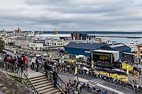 team UAE Emirates at the pre Tour teams presentation of the 108th Tour de France 2021 in Brest at le Grand Départ.