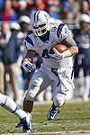 Middle Tennessee Blue Raiders fullback Corey Carmichael (44) in action during the Armed Forces Bowl game between the Middle Tennessee Blue Raiders and the Navy Midshipmen at the Amon G. Carter Stadium in Fort Worth, Texas. Navy defeated Middle Tennessee 24 to 6.