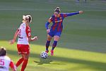 Liga IBERDROLA 2020-2021. Jornada: 10<br /> FC Barcelona vs Santa Teresa: 9-0.<br /> Estefania Lima vs Vicky Losada.