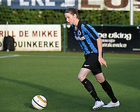 20140606 - Koksijde , BELGIUM : Brugge's Heleen Jaques pictured during the soccer match between the women teams of Club Brugge Vrouwen  and FC Twente Vrouwen  , on the 30th matchday of the BeNeleague competition on Friday 6th June 2014 in Koksijde .  PHOTO DAVID CATRY