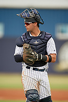 GCL Yankees East catcher Miguel Torres (31) during a Gulf Coast League game against the GCL Phillies East on July 31, 2019 at Yankees Minor League Complex in Tampa, Florida.  GCL Phillies East defeated the GCL Yankees East 4-3 in the second game of a doubleheader.  (Mike Janes/Four Seam Images)