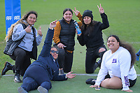 MSP women's team members watch the Wellington presidents club rugby union match between Marist St Pat's and Upper Hutt Rams at Kilbirnie Park in Wellington, New Zealand on Saturday, 4 July 2020. Photo: Dave Lintott / lintottphoto.co.nz