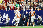 Arkansas Razorbacks wide receiver Keon Hatcher (4) in action during the Advocare V100 Texas Bowl game between the Arkansas Razorbacks and the Texas Longhorns at the NRG Stadium in Houston, Texas. Arkansas defeats Texas 31 to 7.
