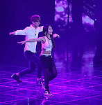 """Se-Hun( EXO-K) and BoA, Jul 24, 2014 : South Korean singer BoA (R) and EXO-K's Sehun perform at the 10th anniversary live special of weekly music chart show, """"M! Countdown"""" of Mnet in Goyang, north of Seoul, South Korea. (Photo by Lee Jae-Won/AFLO) (SOUTH KOREA)"""