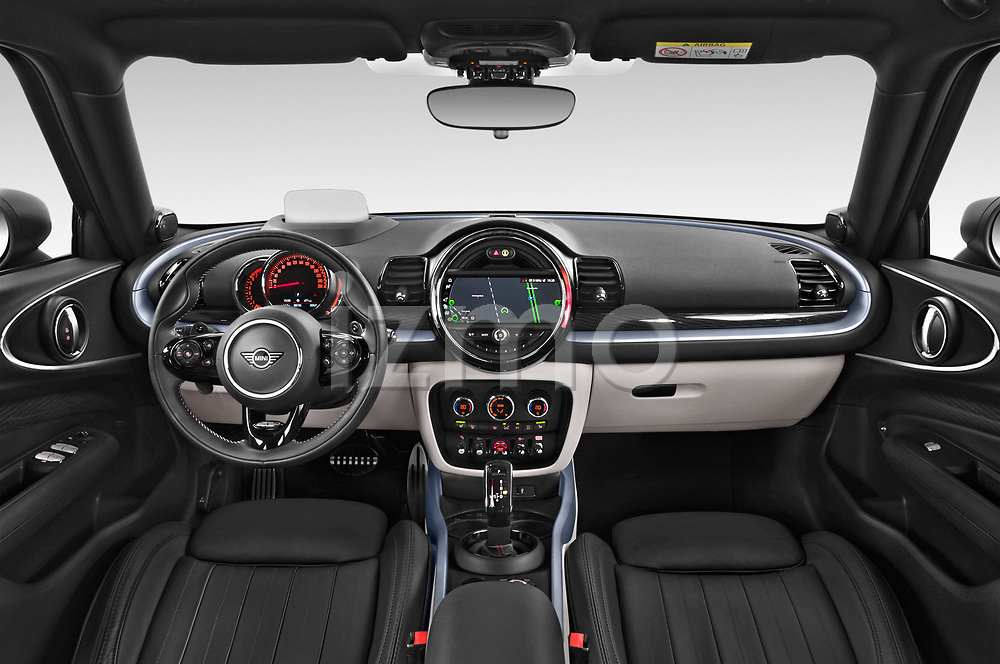 Stock photo of straight dashboard view of 2020 MINI Clubman 5 Door Wagon Dashboard