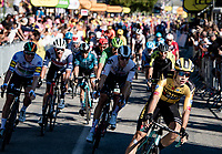 Wout van Aert (BEL/Jumbo - Visma) wins the bunch sprint into Privas against the fastest names in the peloton<br /> <br /> Stage 5 from Gap to Privas (183km)<br /> <br /> 107th Tour de France 2020 (2.UWT)<br /> (the 'postponed edition' held in september)<br /> <br /> ©kramon