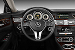 Steering wheel view of a 2012 Mercedes CLS Class