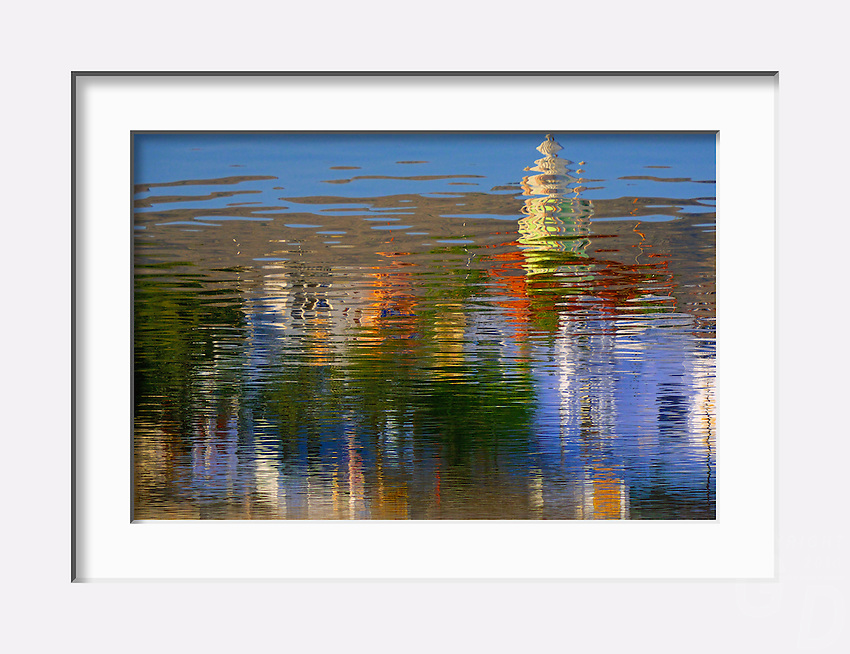 Abstract reflection over the holy Lake in Pushkar, India