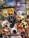 Howard, REALISTIC ANIMALS, REALISTISCHE TIERE, ANIMALES REALISTICOS, selfies,dogs,paris,eiffel tower, paintings+++++,GBHRPROV249,#a#, EVERYDAY