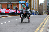 3rd October 2021; London, England: The Virgin Money 2021 London Marathon: Joshua George of USA crossing Narrow Street Swing Bridge, Limehouse Basin between mile 14 and 15.