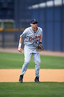 Detroit Tigers Tanner Donnels (77) during practice before a minor league Spring Training game against the New York Yankees on March 22, 2017 at the Yankees Complex in Tampa, Florida.  (Mike Janes/Four Seam Images)