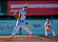 29 July 2018: Vermont Lake Monsters pitcher Brandon Marsonek on the mound against the Batavia Muckdogs at Centennial Field in Burlington, Vermont. The Lake Monsters defeated the Muck Dogs 4-1 in NY Penn League action. Mandatory Credit: Ed Wolfstein Photo *** RAW (NEF) Image File Available ***