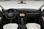 Stock photo of straight dashboard view of a 2019 Volkswagen Arteon SEL 5 Door Hatchback