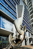 Photography of the Zygos Sculpture in  downtown Charlotte, North Carolina.<br /> <br /> Charlotte Photographer -PatrickSchneiderPhoto.com